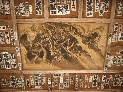 圓蔵寺三門の天井画